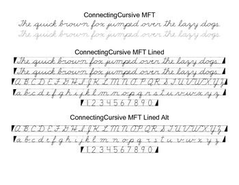 Cursive Font Family (Traditional F, G, T)