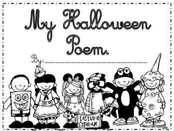 Cursive Halloween Poem Writing Project