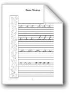 Cursive Handwriting: A, B, C, D, E