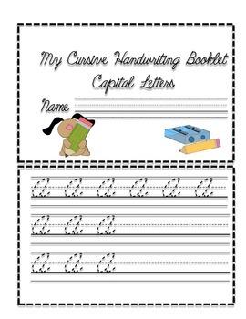 Cursive Handwriting Booklet- Capital Letters