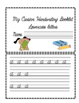 Cursive Handwriting Booklet-Lowercase Letters