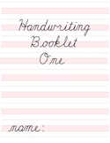 Cursive Handwriting Booklet One