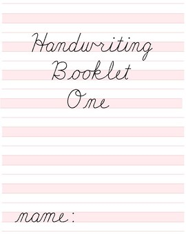 Handwriting Booklet Worksheets & Teaching Resources | TpT