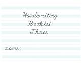 Cursive Handwriting Booklet Three
