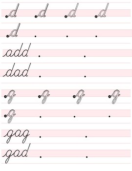 Cursive Handwriting Booklet Two