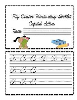 Cursive Handwriting Booklets- 2 Booklets- All Capital and Lowercase Letters