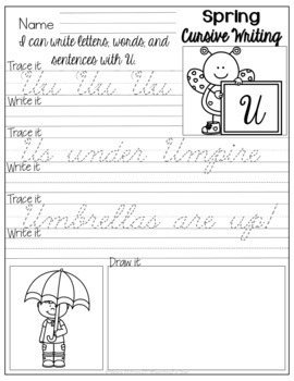Cursive Handwriting Bundle {For All Seasons}