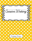 Cursive Handwriting Curriculum for Older Students (Middle School) *Full Year*
