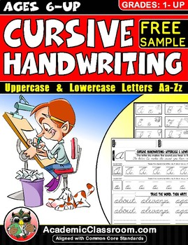 Cursive Letters, Handwriting Practice: Free Cursive Sample Mastering Alphabets