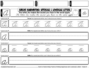Cursive Letters, Handwriting Practice: Free Cursive Sample Mastering Alphabets