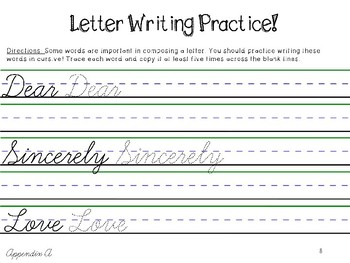 Cursive Handwriting Freebie!