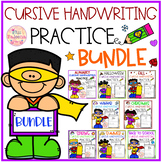 Cursive Handwriting Growing Bundle