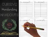 Cursive Handwriting Handouts