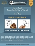 Handwriting Distance Learning- Capitals Videos, Worksheets