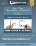 Handwriting Distance Learning- Lowercase Videos, Worksheet