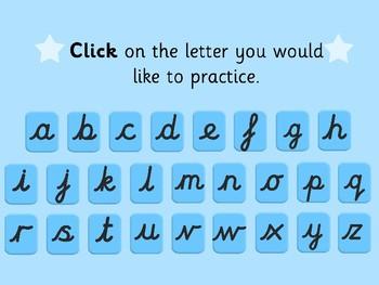 Cursive Handwriting Interactive Web Quest | Not Editable
