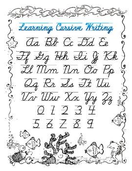 cursive handwriting key by shellie 39 s class teachers pay teachers. Black Bedroom Furniture Sets. Home Design Ideas