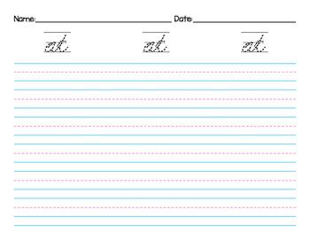 Cursive Handwriting Kindergarten Dolch Sight Words