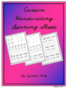Cursive Handwriting Learning Sheets