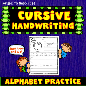 Cursive Handwriting Letter Practice  - Just print & go!