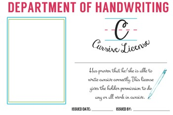 Cursive Handwriting License