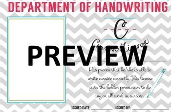 Cursive Handwriting License