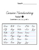 Cursive Handwriting Packet Covers