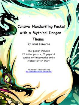Cursive Handwriting Packet with a Mythical Theme