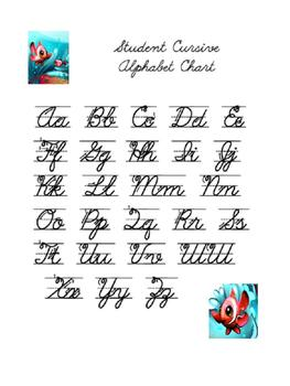 Cursive Handwriting Packet With An Ocean Theme By Anna