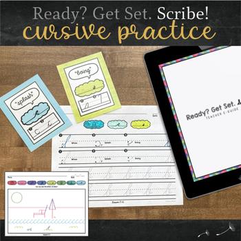Cursive Handwriting Packet for Kindergarten - Complete Curriculum