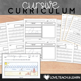 Cursive Handwriting Practice with Letter Formation (First