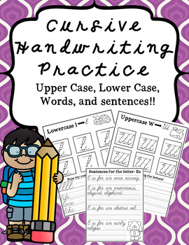Cursive Handwriting Practice Bundle