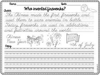 Cursive Handwriting Practice SET 1