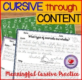 Cursive Handwriting Practice SET 1-DISTANCE LEARNING
