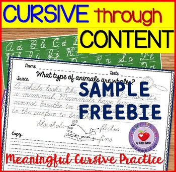 Cursive Handwriting Practice FREEBIE