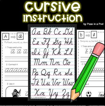 Cursive Handwriting Practice A-Z by Peas In A Pod | TpT