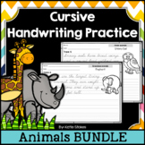 Cursive Handwriting Practice - Animals | Distance Learning
