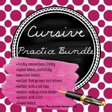 Cursive Handwriting Practice Worksheets Bundle