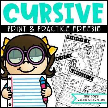 Cursive Handwriting Practice {Free Sample}
