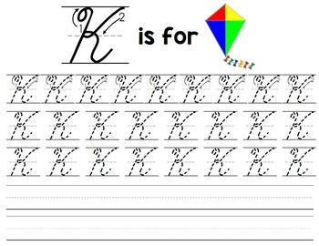 Cursive Handwriting Practice - Life Skills - Writing - Special Education Unit 1