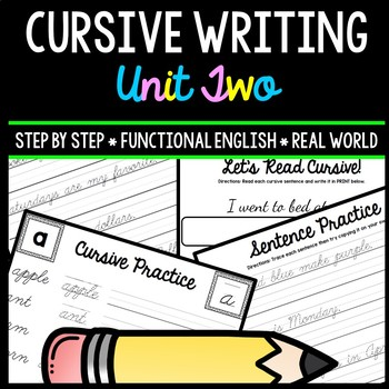 Cursive Handwriting Practice - Life Skills - Writing - Special Education Unit 2