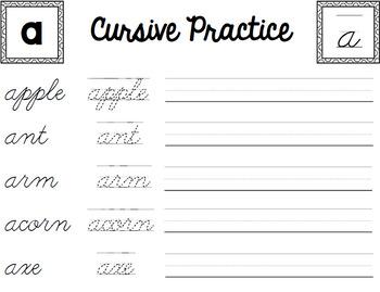 Cursive Handwriting Practice - Life Skills - Writing - Special Education Unit 2