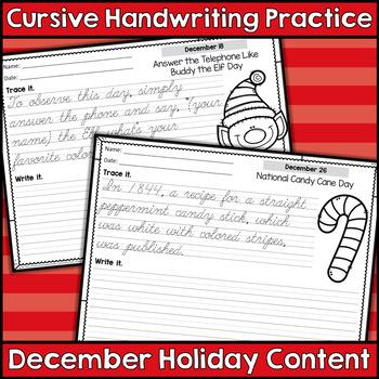 Cursive Handwriting Practice - Monthly Content BUNDLE