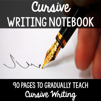 Cursive Handwriting Practice Page Notebook - Learn Cursive Writing