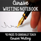 Cursive Handwriting Practice Page Notebook - Learn Cursive