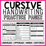 Cursive Handwriting Practice Pages | Distance Learning
