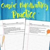 Cursive Handwriting Practice Paragraphs