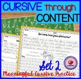 Cursive Handwriting Practice- Set 2