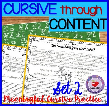 Cursive Handwriting Practice- Set 2 DISTANCE LEARNING