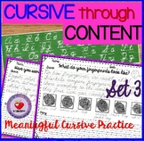 Cursive Handwriting Practice- Set 3